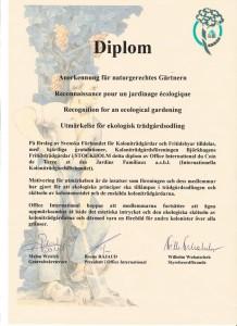 Utmärkelse för ekologisk trädgårdsodling